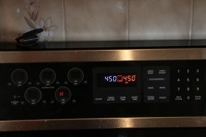 legend has it when the clock matches the baking temperature you'll have seven nights of cooking success