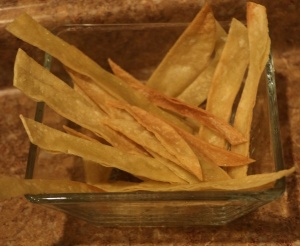 home baked tortilla chips - this really just happened