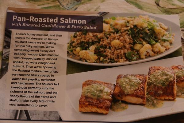 Roasted Salmon With Spicy Cauliflower Recipe — Dishmaps
