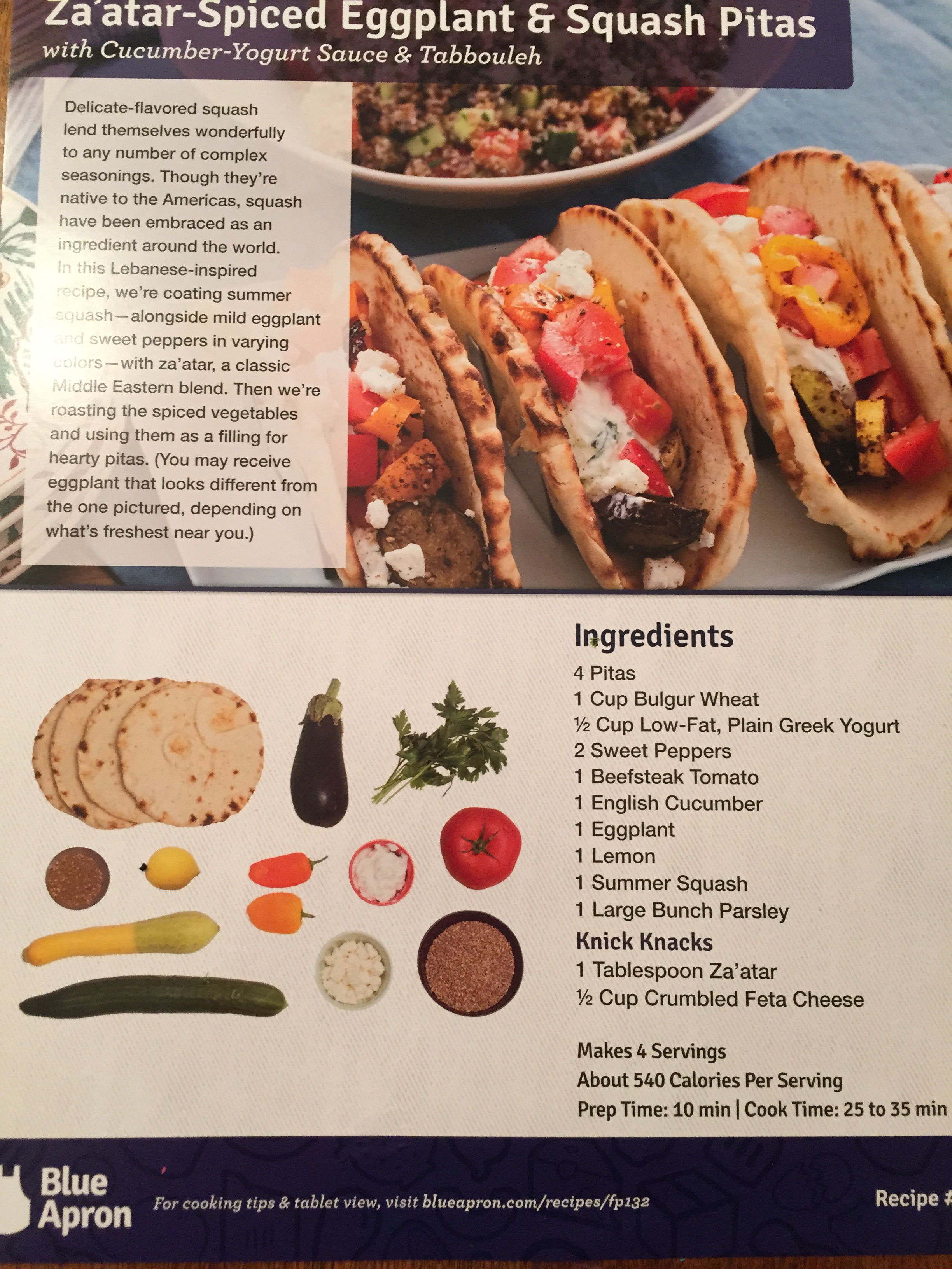 Blue apron yogurt sauce -  Eggplant And Tomato Which I Went Off Recipe Here And Roasted The Beautiful Beefsteak Tomato Blue Apron Sent Because I M Still Uncomfortable Eating Raw